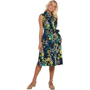 NWOT Isaac Mizrahi Live Floral Shirt Dress Size 6